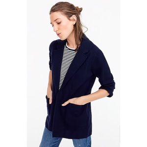 J. Crew 'Sophie' open-front sweater-blazer (BLACK)